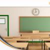 aula scolastica pulita e in ordine grazie al personale ata